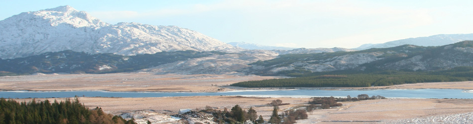 Ben Resipole and Loch Shiel in Winter