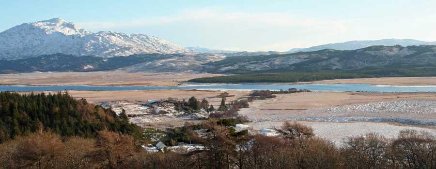 Ben Resipole and Loch Shiel in Winter
